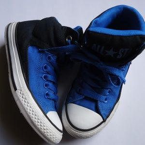 SIZE 2.Converse little boys high top Sneakers .